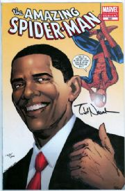 Amazing Spider-man #583 2nd Print Obama Variant Dynamic Forces Signed Todd Nauck DF COA Marvel comic book